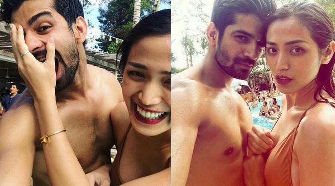 Jessica Iskandar beberapa kali menjelaskan hubungannya dengan Vishal Singh hanya sebatas teman. Meski demikian, keduanya sering kali terlibat bareng dalam salah satu acara. Kini, keduanya berlibur bersama di Bali. (dok. Instagram/ella.chayank_umi86)