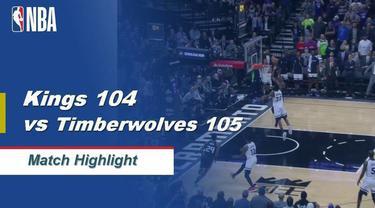 Berita Video Highlights NBA 2019-2020, Sacramento Kings vs Minnesota Timberwolves 104-105
