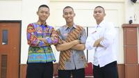 Paskibraka Nasional 2019 Muhammad Fany Nur Wibowo, Bagas Satria Wijaya, Zaini Fahmi (Aditya Eka Prawira/Liputan6.com)