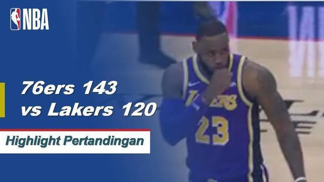 Joel Embiid skor 37 ketika 76ers mendapatkan kemenangan atas Lakers, 143-120.