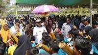 Bupati Kabupaten Konawe Selatan Surunuddin Dangga saat peresmian UPJA.