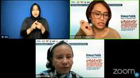 Ketua Umum Himpunan Wanita Disabilitas Indonesia (HWDI) Maulani Rotinsulu (paling bawah)
