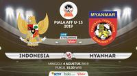 Piala AFF U-15 2019: Indonesia vs Myanmar. (Bola.com/Dody Iryawan)