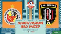 Shopee Liga 1 - Semen Padang FC Vs Bali United (Bola.com/Adreanus Titus)