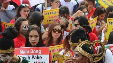 Massa demo pro-RUU KPK