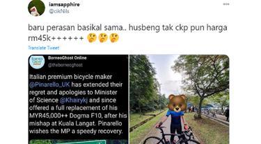 seorang istri baru tahu harga sepeda suami capai ratusan juta.