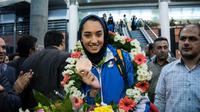 Atlet Putri Taekwondo Iran, Kimia Alizadeh. (AFP)