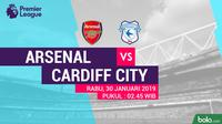 Premier League: Arsenal Vs Cardiff City (Bola.com/Adreanus Titus)