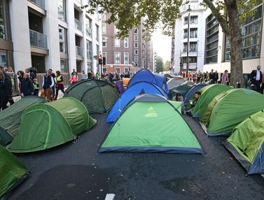 Protes Perubahan Iklim, Aktivis Berkemah di Jalanan London