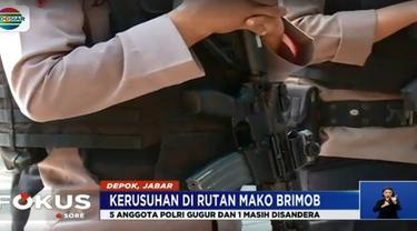 Enam jenazah telah dikirim ke Rumah Sakit Polri Kramat Jati, Jakarta Timur Rabu siang.