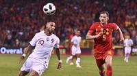 Timnas Portugal bermain 0-0 ketika melawat ke markas Belgia dalam pertandingan uji coba, di Stade Roi Baudouin, Brussel, Sabtu (2/6/2018) waktu setempat.(AP/Geert Vanden Wijngaert)
