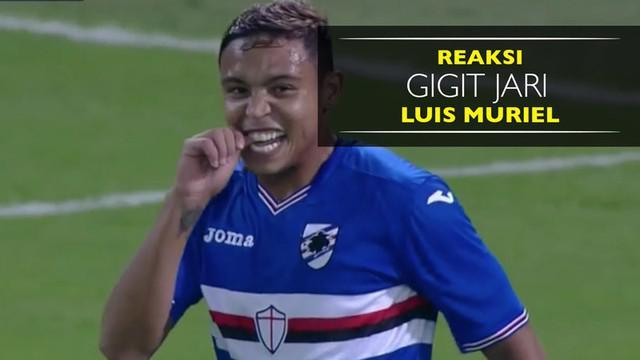 Video reaksi gigit jari striker Sampdoria, Luis Muriel, usai gagal cetak gol ke gawang Inter Milan.