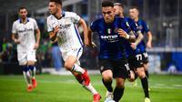 Inter Milan bermain imbang 2-2 kontra Atalanta pada laga pekan keenam Serie A di Giuseppe Meazza, Sabtu (26/9/2021) malam WIB. (AFP/Marco Bertorello)