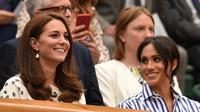 Meghan Markle tak akan melahirkan di RS yang sama dengan Kate Middleton. (OLI SCARFF / AFP)