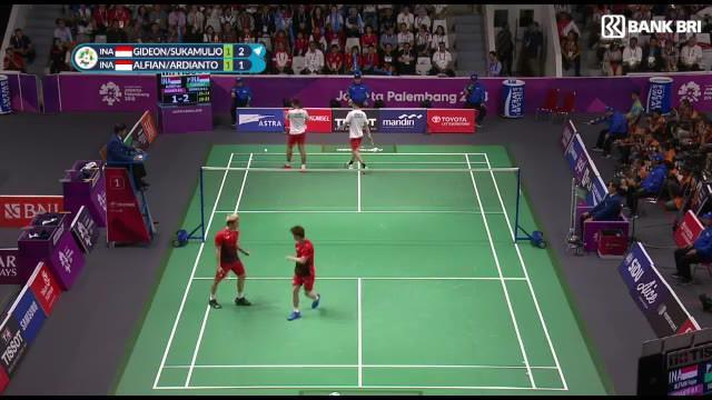 Berita Video Highlights Kemenangan Marcus / Kevin di Final Bulutangkis Ganda Putera Asian Games 2018
