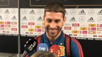 Sergio Ramos catat penampilan ke-100 untuk Spanyol. (doc. Sefutbol)