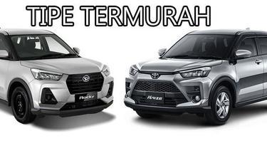 (Kiri) Daihatsu Rocky termurah dan (Kanan) Toyota Raize termurah