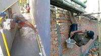 Kelakuan Kocak Tukang Bangunan (Sumber: Twitter//DuniaKuli)