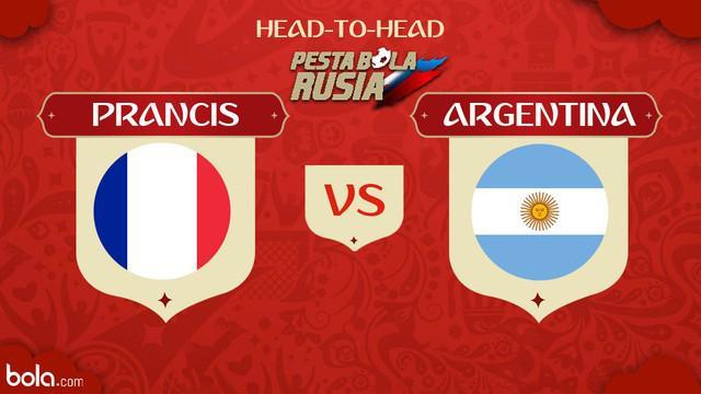 Berita video head-to-head Piala Dunia Rusia 2018: Prancis vs Argentina.