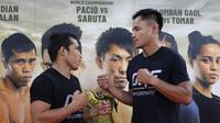 Petarung mixed martial arts Indonesia, Stefer Rahardian (kanan) melawan Robin Catalan di kelas Strawweight ONE Championship (Foto: ONE Championship)
