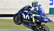 Pembalap Movistar Yamaha, Valentino Rossi pesimistis soal penampilannya di MotoGP 2018. (Tiziana FABI / AFP)