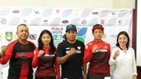 Tim sepatu roda Indonesia mengikuti ajang Piala Walikota Solo untuk memantapkan persiapan menuju ajang Asian Games 2018 mendatang. (Bola.com/Ronald Seger)