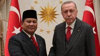 Menteri Pertahanan Prabowo Subianto diterima Presiden Turki, Recep Tayyip Erdogan. (Dokumentasi Kedutaan Besar Ankara)