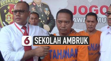 Polda Jatim telah menetapkan 2 tersangka ambruknya SDN Gentong Pasuruan. Keduanya adalah mandor dan kontraktor pelaksana bangunan. Polisi menemukan kualitas bangunan yang tidak sesuai spesifikasi.