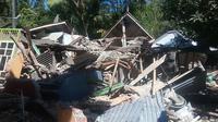 Kerusakan di Desa Teluk Kombal, Lombok Utara, akibat gempa (Istimewa)