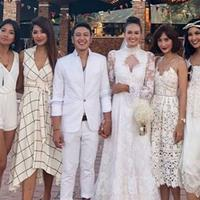 Gaya Putri Indonesia di pernikahan Nadine Chandrawinata dan Dimas Anggara (Instagram @artikasaridevi)
