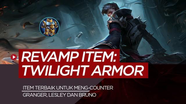 Berita motion grafis Twilight Armor, item Mobile Legends untuk counter critical Granger, Lesley dan Bruno.