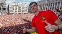 Penjaga gawang Chelsea asal Belgia, Thibaut Courtois. (AFP/Yves Herman)