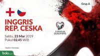 Kualifikasi Piala Eropa 2020 - Inggris Vs Republik Ceska (Bola.com/Adreanus Titus)