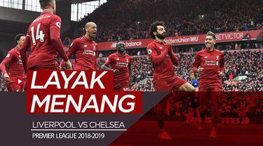 Berita video statistik Liverpool vs Chelsea yang menunjukkan keunggulan The Reds dari The Blues dalam pertandingan lanjutan Premier League 2018-2019 di Anfield, Minggu (14/4/2019).