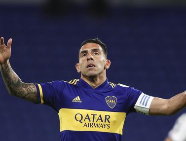 Carlos Tevez Gagal Bawa Boca Juniors Tundukan Libertad di Copa Libertadores