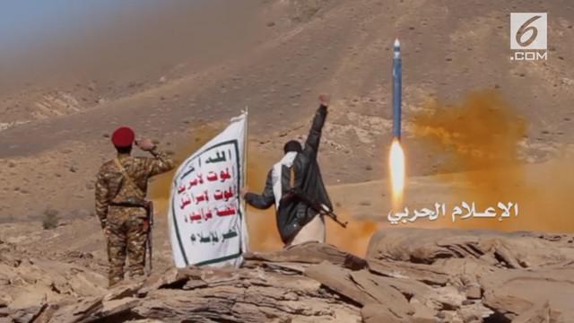 Pemberontak Houthi pada Selasa menjelaskan bahwa rudal yang mereka luncurkan menargetkan Istana Al-Yamama