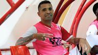 Striker Madura United yang juga dipinjamkan ke Persija, Alberto Goncalves. (Bola.com/Aditya Wany)