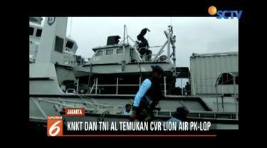 KNKT dan TNI AL berhasil temukan cockpit voice recorder (CVR) pesawat Lion Air JT 610.