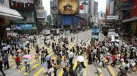 Hong Kong memiliki budaya mereka sendiri. (Liputan6.com/MIKE CLARKE/AFP)