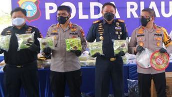 Sinergi Bea Cukai Riau dan Polda Riau Kembali Gagalkan Penyelundupan 49 Kilogram Sabu