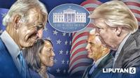 Banner Infografis Hasil Pilpres AS 2020 dan Gugatan Donald Trump. (Liputan6.com/Abdillah)