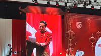 Presiden Jokowi memberi sambutan di Perayaam Imlek Nasional 2020 di ICE BSD Tangerang Selatan, Kamis (30/1/2020). (Liputan6/Lizsa Egeham)
