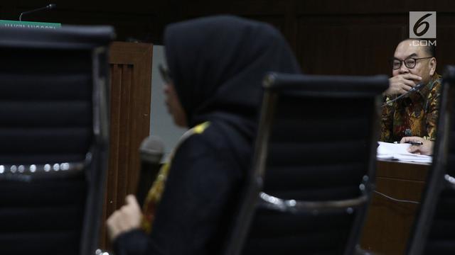 Foto Saat KPK Cermati Pernyataan Eni Saragih Sebelum Jerat Sofyan Basir Dalam Kasus PLTU Riau 1