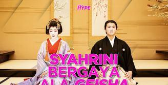 Seperti apa penampilan Syahrini yang berdandan ala Geisha? Yuk, kita cek video di atas!