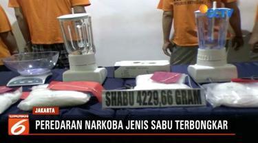 Polres Jakarta Timur gagalkan peredaran narkoba jenis sabu seberat 4,2 kilogram di Cakung.