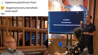 Pria Ini Lamar Kekasih Pakai Presentasi PowerPoint, Jelaskan Cara Menafkahi Istri