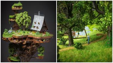 Pria Ini Ciptakan Sebuah Miniatur Desa Selama 2 Tahun, 6 Potretnya Bikin Takjub
