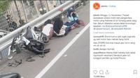 5 Bocah Pengendara Sepeda Motor masuk tol (Foto: Instagram @jktinfo)