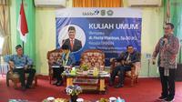 Kepala BKKBN, Hasto Wardoyo,  saat memberikan kuliah umum Politeknik Kesehatan Pontianak, Jurusan Keperawatan Singkawang, Singkawang, Kalimantan Barat, Senin, 16 Februari 2020.