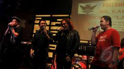 Sejumlah musisi rock ikut meramaikan acara Rockin The Law, Jakarta, Sabtu (21/2/2015). Acara ini sebagai bentuk dukungan kepada KPK (Liputan6.com/Johan Tallo).